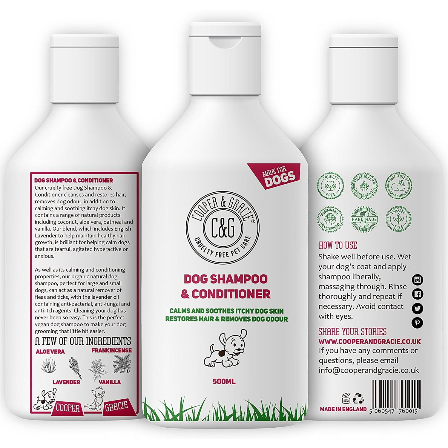 C&G dog shampoo