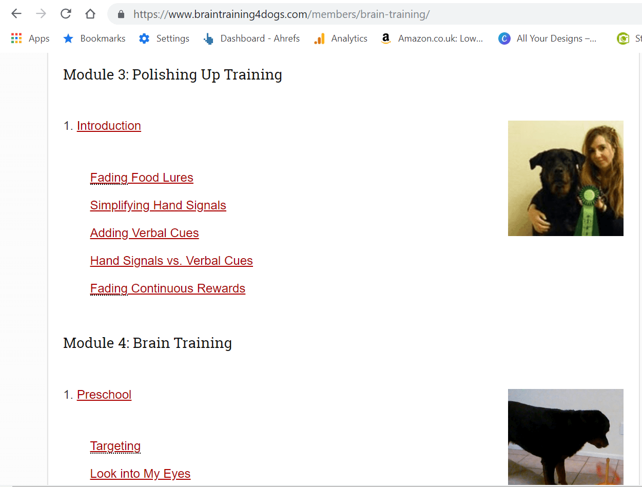 Size Review  Obedience Training Commands Brain Training 4 Dogs